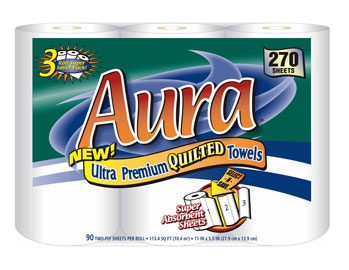 Aura - 3-Pack Select-A-Size Towel 90ct