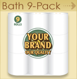 Private label Bath 9 pack